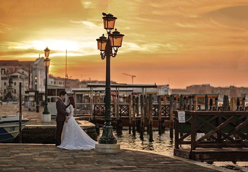венеция, сан марко, площадь, закат, рассвет, свадьба photo preview