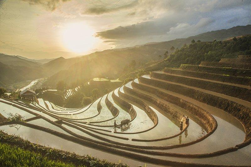 Sunset in Mu Cang Chai, Vietnamphoto preview
