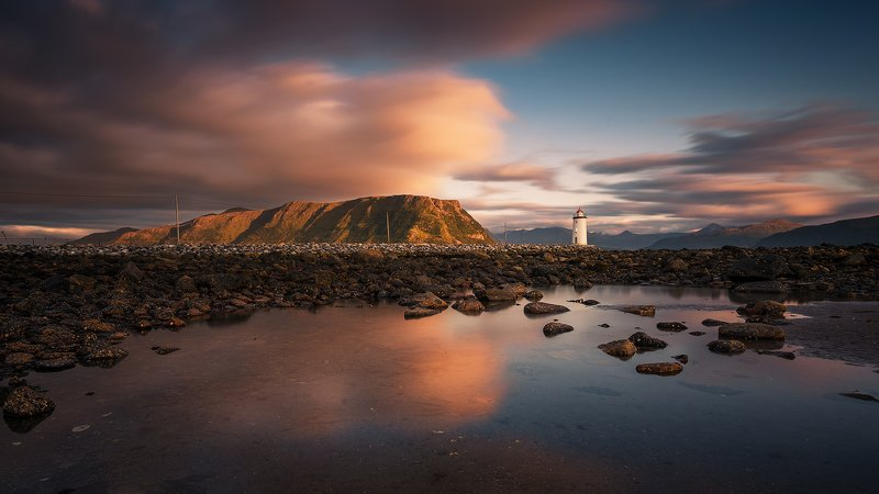 norway,light,lighthouse,sunset The Lighthousephoto preview