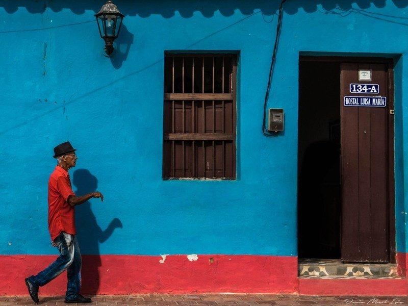 cuba, trinidad, cuban Walking down the streetphoto preview