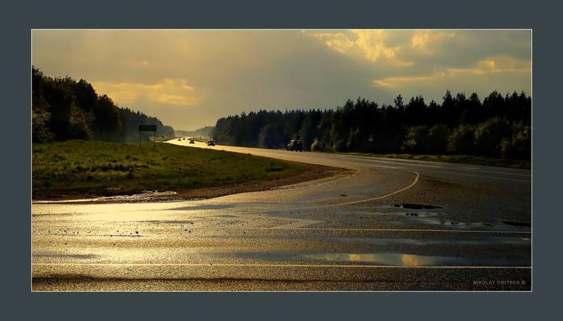 пейзаж трасса. дождь. закат. вело. 09. 06. 2019photo preview
