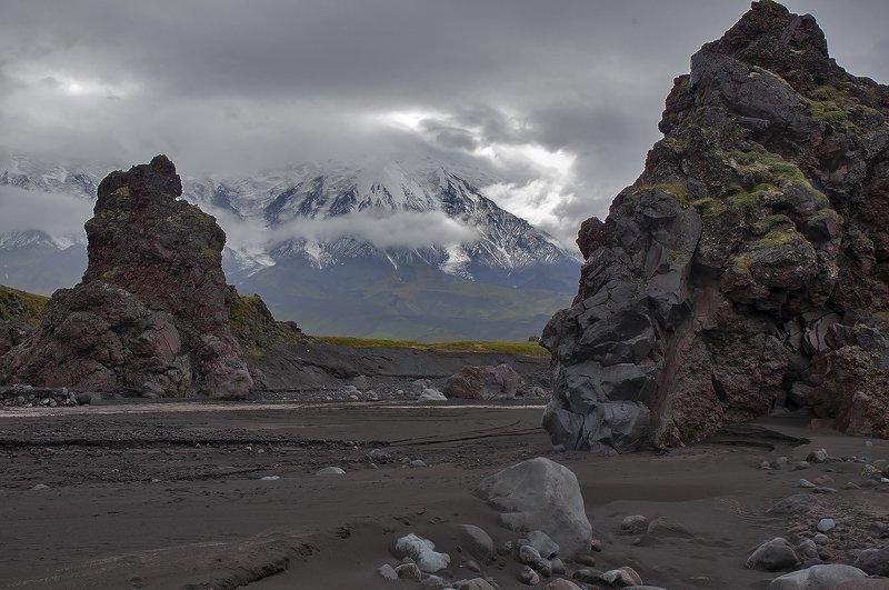 камчатка, камчатка, вулкан, толбачик, река, русло, студеная, толбачик Вратаphoto preview