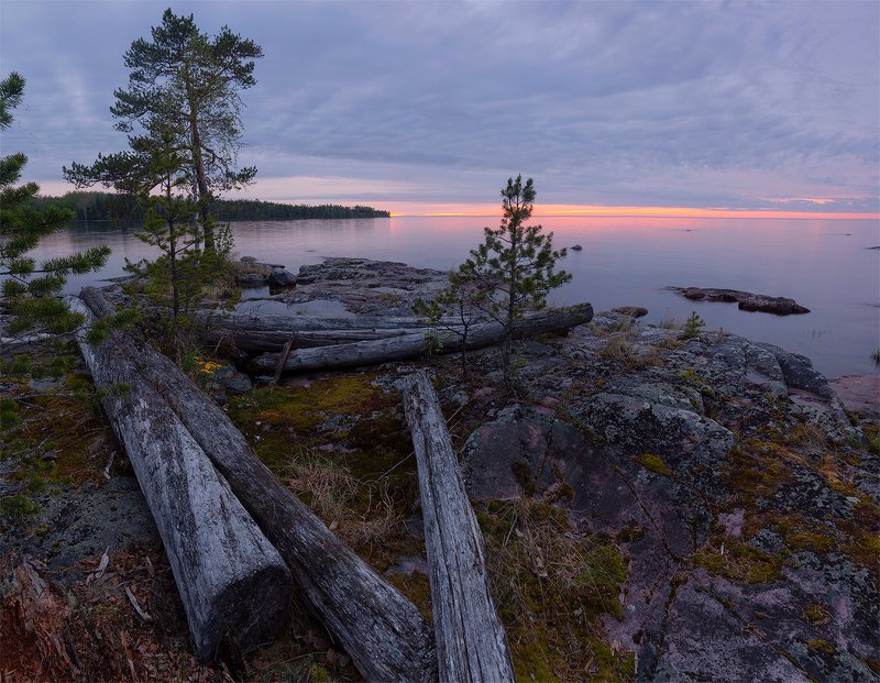 Карелия, Онега, лето, озеро Закат на Онежском озереphoto preview