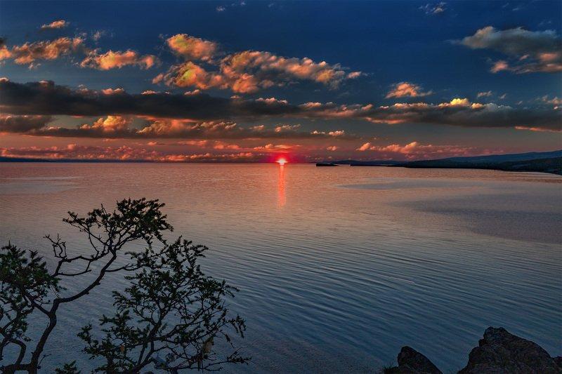 утро, восход, пейзаж, отражение, озеро, Байкал, зори На утренней зорькеphoto preview