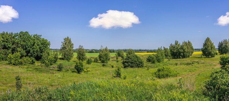 лето, дали, облака photo preview