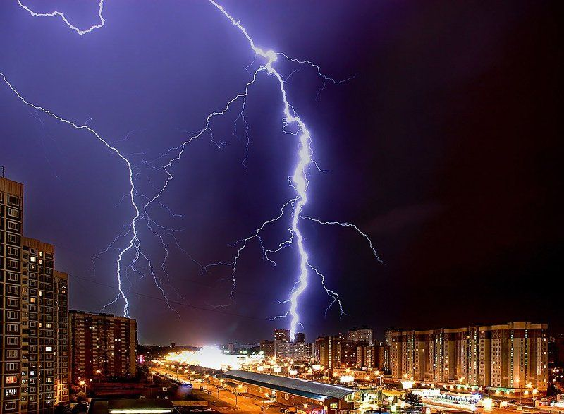 молния, гроза, город москва, марьино Гроза в Москвеphoto preview