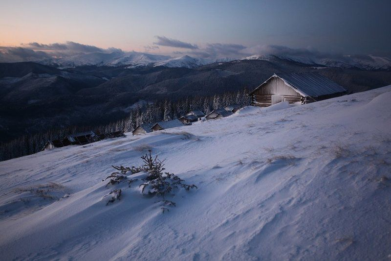morning, mountaines, winter early morningphoto preview