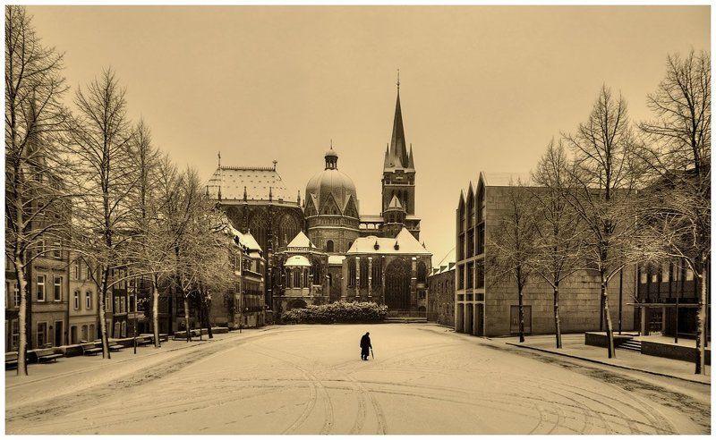 ахен, катчхоф, январь Aachener Dom (Ахенский собор)photo preview