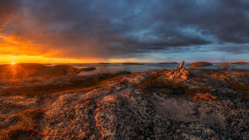Рассвет, панорама, пейзаж, карелия Рассвет на Кузовахphoto preview