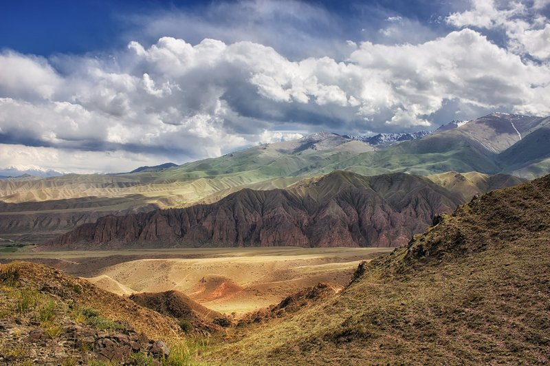 кыргызстан, горы Мгновения летаphoto preview