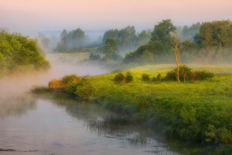угра,рассвет,утро,пейзаж Июньское утро... фото превью