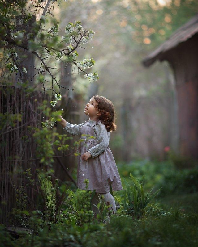 детская фотография, портрет, природа Там, где поют соловьиphoto preview