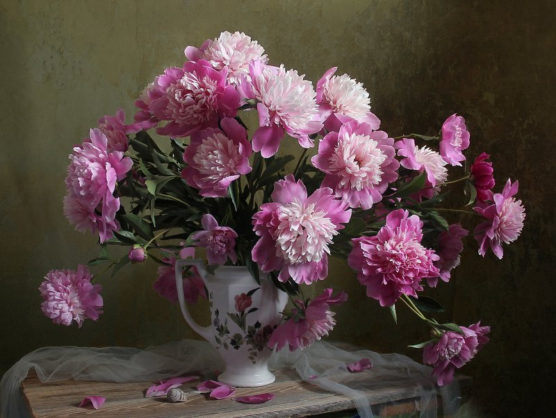 весна, натюрморт, букет цветов, пионы, марина филатова Вновь расцвели, чаруя взгляд, благоуханные пионы (2) фото превью