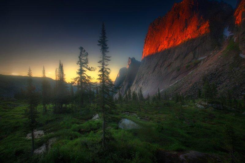ергаки, горы, саяны, западныйсаян, сибирь, фототур Огненный дракон фото превью