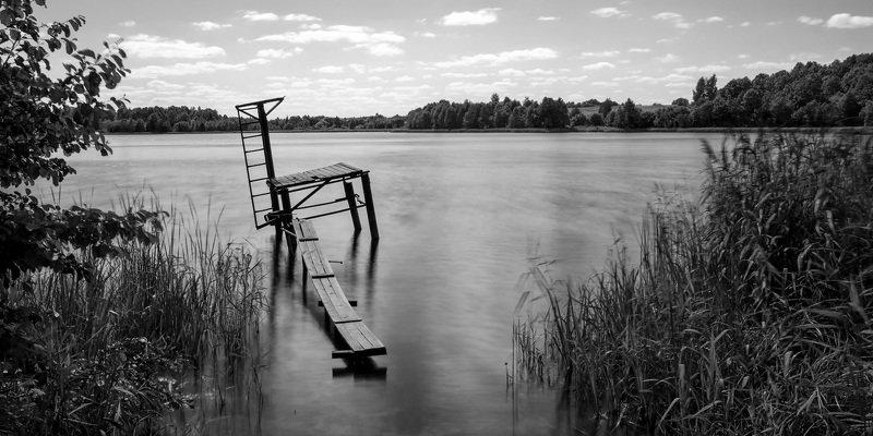 пейзаж,озеро,лето,монохром Деревенский аквапарк.photo preview
