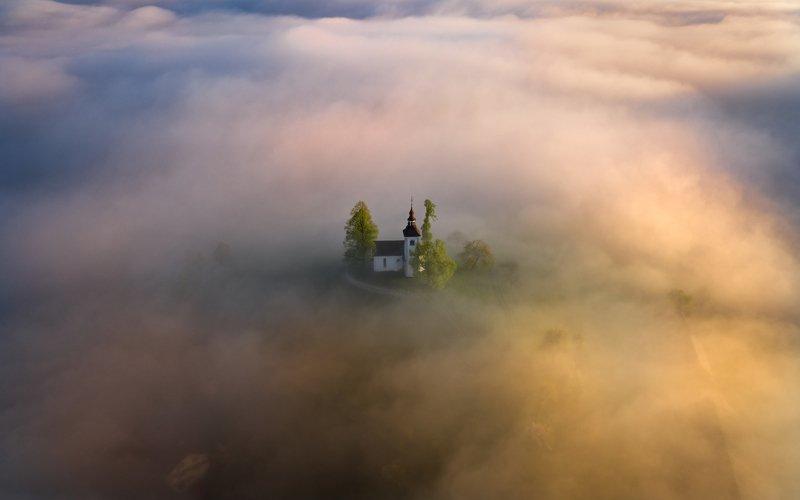 slovenia, alps, dusk, morning, landscape, словения, альпы, утро, пейзаж Warm morningphoto preview