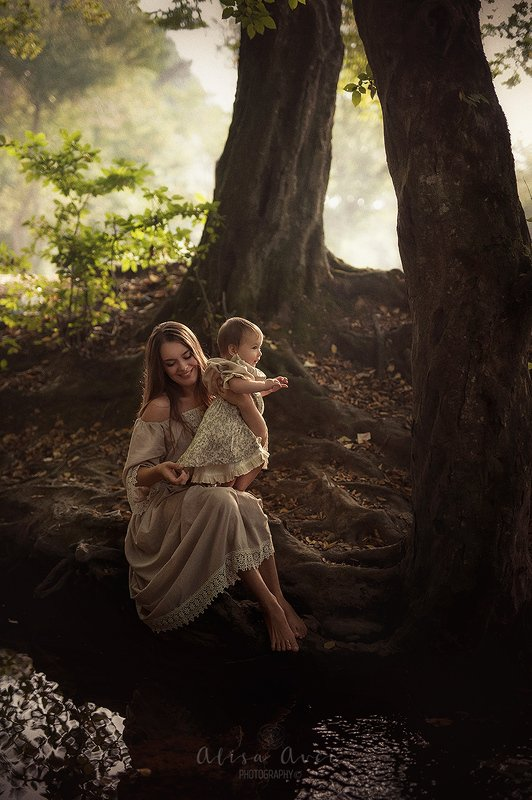 #forest #beauty #nature #woman #baby  Happyness is naturalphoto preview