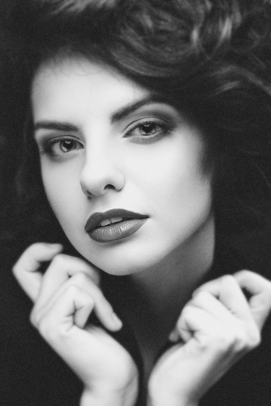female, portrait, black and white, retro, vintage, face, adorable, sensual, sexy, lips, look, fashionable, stylish, expression, mood A little bit of Retro for this heat nightphoto preview