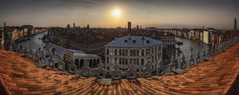 венеция, панорама roofs of venicephoto preview