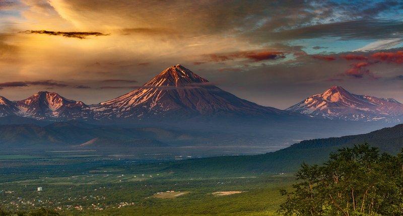 камчатка, корякский, вулкан, закат Время к закату дняphoto preview