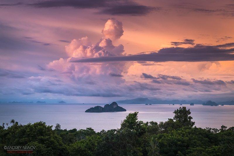 пейзаж, природа, закат, остров, пхи-пхи, тайланд Тайланд. Закат на острове Пхи-Пхиphoto preview