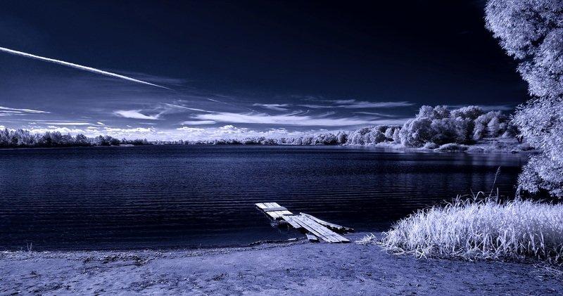 infrared,ик-фото,инфракрасное фото, инфракрасная фотография, пейзаж, осень Осенняя зыбь.photo preview