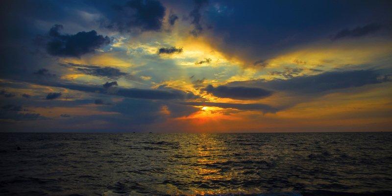 вечер, море, закат, небо, природа Закат над Черным моремphoto preview