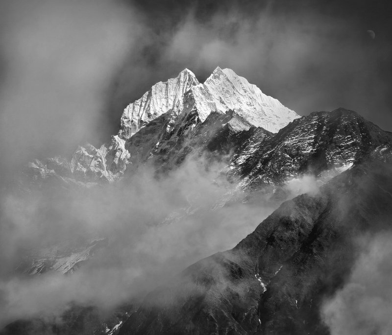 гималаи, тхамсерку, горы, непал Пик Тхамсерку. Из серии \