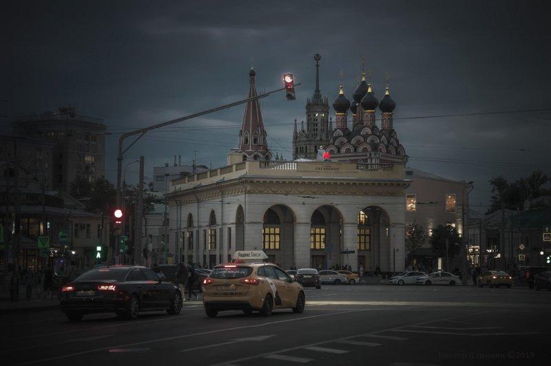 москва, вечер, таганская, метро, площадь Таганкаphoto preview