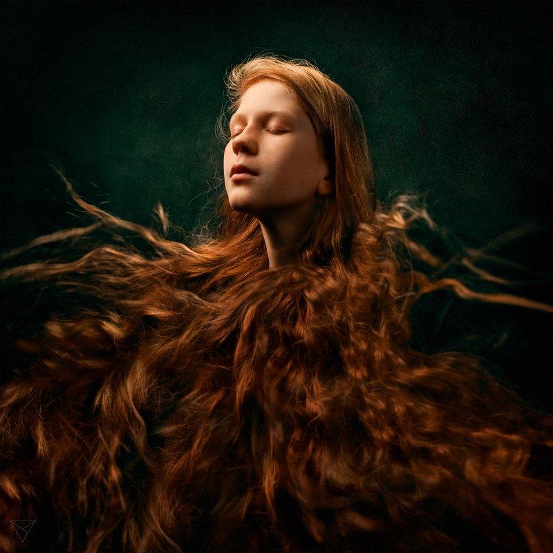 Женский портрет, портрет, природа, portrait, women, красивый портрет, взгляд, рыжая Воздухphoto preview