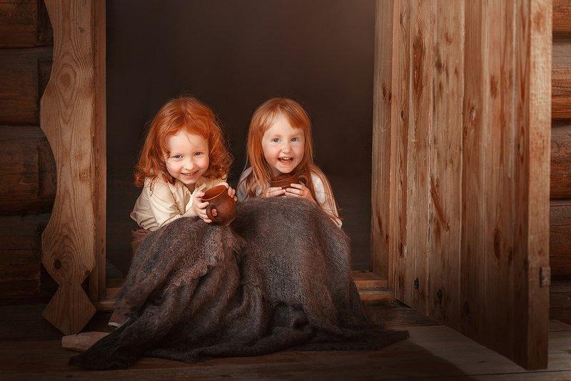 kids дети children утро в деревнеphoto preview