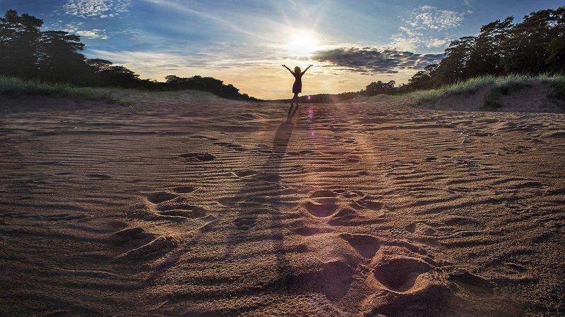 девушка,солнце,финский,гармония,настроение Навстречу Солнцуphoto preview