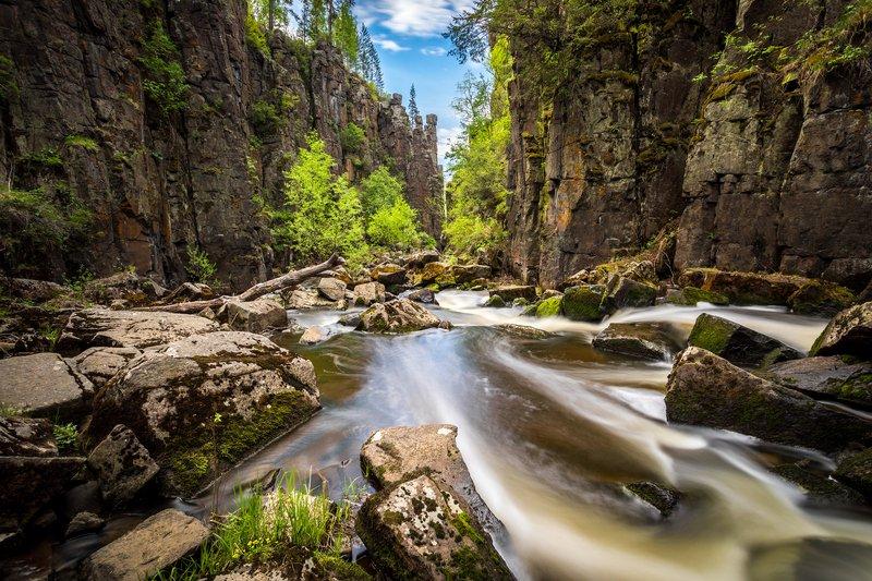 нижнеудинск, ук, уковский, водопад, ущелье, длинная, выдержка Ущелье Уковского водопадаphoto preview