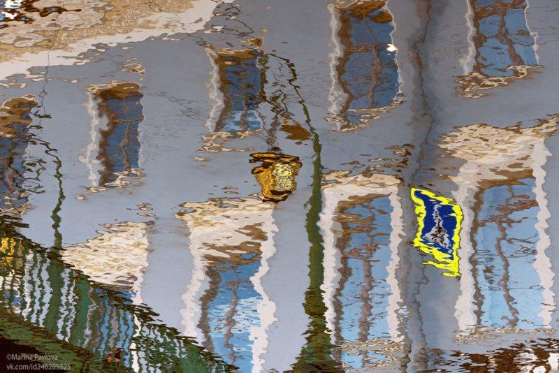 акваабстракция, отражения, санкт-петербург, город Весеннее преображение питерского фонаряphoto preview