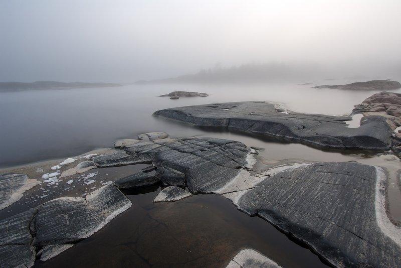 ладога карелия В бледных туманахphoto preview