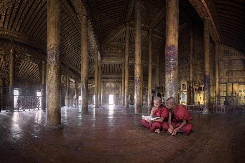 ancient, architecture, asia, asian, book, buddhism, buddhist, building, burma, burmese, carving, children, columns, culture, decoration, door, famous, gold, golden, heritage, history, illuminated, interior, landmark, majestic, mandalay, monastery, monk, m The Seekersphoto preview