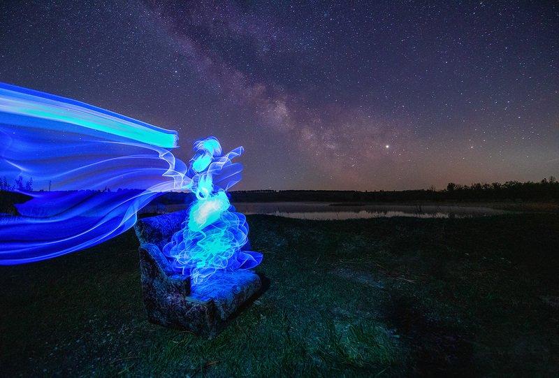 ночь, звезды, tamron Призрак на берегуphoto preview