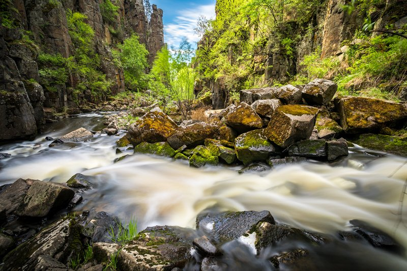 нижнеудинск, река, ук, уковский, водопад, ущелье, длинная, выдержка В ущельеphoto preview