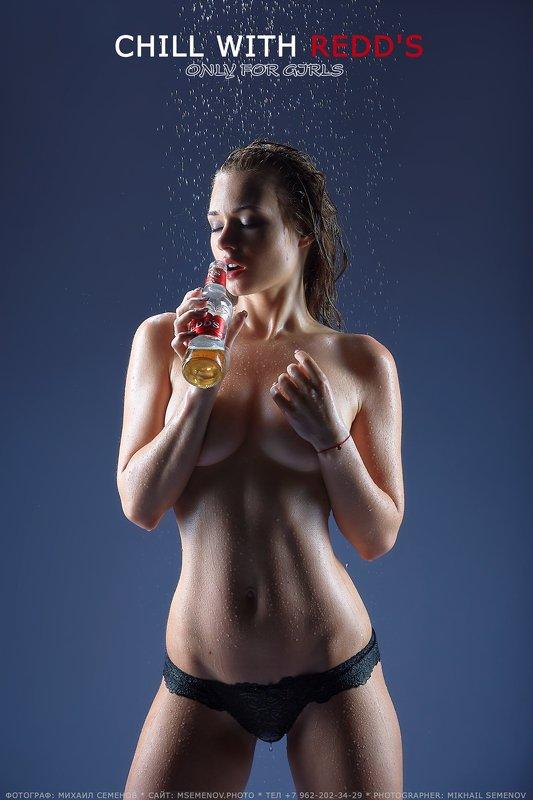 михаилсеменов, аквалайт, ню, подводное, девушка, aqua, мокрая, пиво, redds Aqua-girlphoto preview