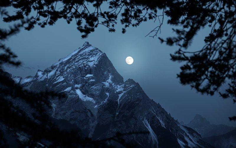dolomiti, moon, alps, panorama Moonphoto preview