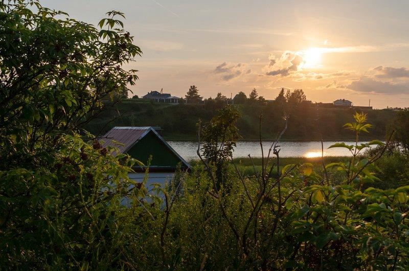 закат, псковская, река, природа Летний закатphoto preview