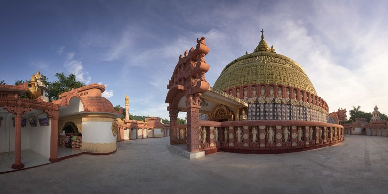 academy, architecture, asia, asian, attraction, blue, buddha, buddhism, buddhist, building, burma, burmese, city, complex, culture, dome, evening, exterior, famous, heritage, historic, history, international, landmark, majestic, mandalay, monument, myanma The Place of Wisdom фото превью