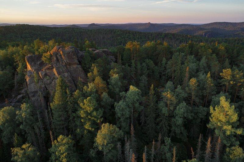 столбы, красноярские, пейзаж, красиво, лето, туман, заповедник, август, хайкинг, тревел, туризм Третий Столбphoto preview