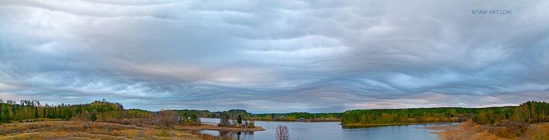 асператус, undulatus, asperatus, aspreatus, asperitas, облака, облако, ладога, ладожское, озеро, карелия, небо, тучи, туча, небесное, явление, ритам, мельгунов, пейзаж, россия, осень, осенний, autumnal, ladoga, lake, cloud, clouds Хляби небесные / Cataracts of Heavenphoto preview