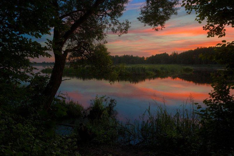 На берегу реки Клева после закатаphoto preview