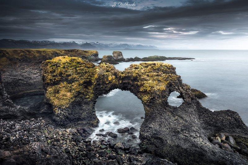 iceland, waves, ocean, rock, coastline, landscape, sunset, Iceland coastlinephoto preview
