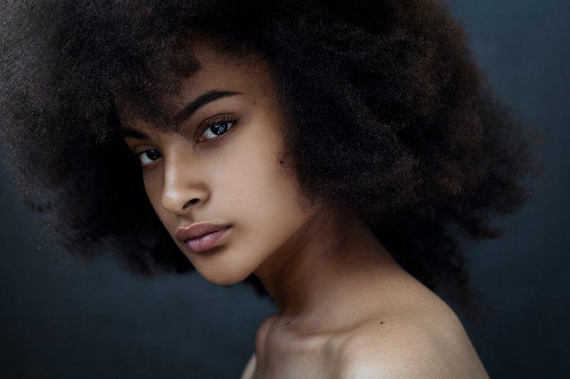 девушка, , темнокожая, портрет, модель, гламур, girl, popular, art, model, young, woman, beautiful, studio, african Стеллаphoto preview