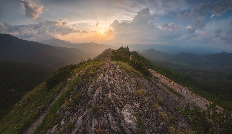пейзаж отпуск горы польша закат никон Закат над Закопанеphoto preview