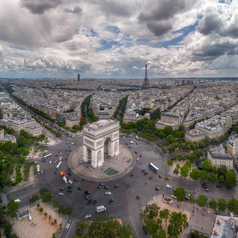 Париж, город, пейзаж Триумфальная аркаphoto preview