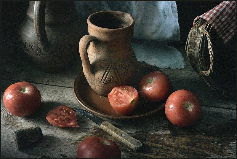 Натюрморт с помидорчиками..photo preview